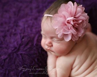 Mauve Flower Headband, Flower Headband, Baby Girl Headband, Mae, Rose Headband, Baby Headband