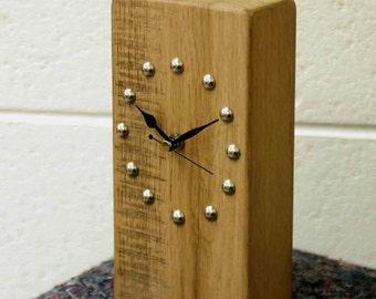 Oak Mantle / Shelf Clock