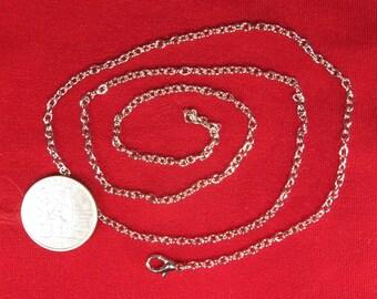 """BULK! 12pc 24 inch """"antique silver"""" cable chain necklaces (JC130)"""