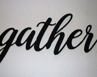 Metal Gather sign