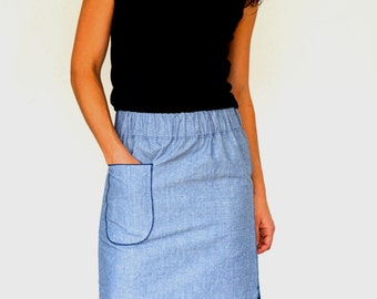 midi skirt ROMA / PDF sewing pattern for women | instant download | sizes xs – xxxl | modern pencil skirt sewing pattern for wovens or knits