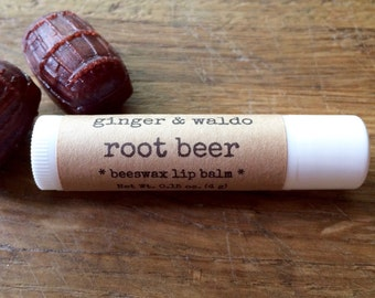 Root Beer Lip Balm - Root Beer - Lip Balm - Beeswax