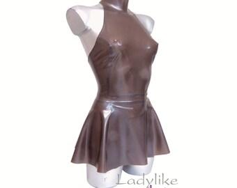 Halter Neck Sports/Athletics Mini Dress in Latex Rubber