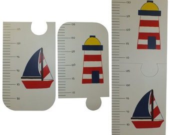 Nautical Growth Chart - Kids Height Chart - Wooden Height Chart - Metric or Imperial Measurement Growth Chart