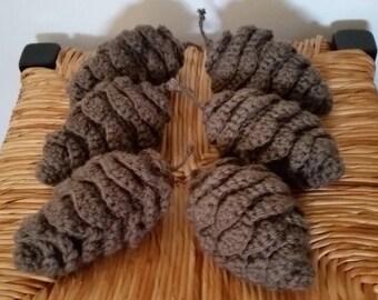 Crocheted Pinecones