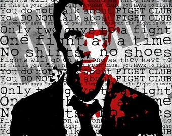 A3 ORIGINAL LIMITED PRINT - Fight Club