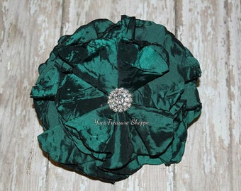 5 Inch Singed Flower Barrette