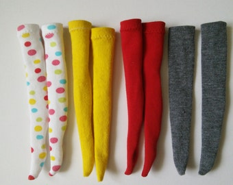 Thigh high socks for Pullip/Obitsu 27cm - various colours