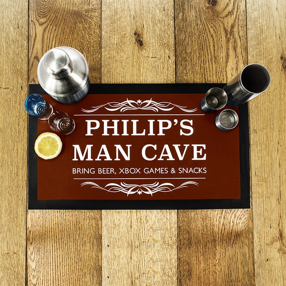 Gifts For Man Cave Bar : Gentlemen s man cave bar mat brown father day