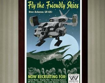 Aliens - Acheron LV-426 - Vintage Travel Poster - 11x17