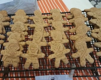 Star Wars Treats - Peanut Butter Treat - All Natural Dog Biscuits - Gourmet Dog Cookies - No Preservatives - Made to Order