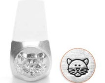 6mm Cat Face Stamp, Metal Stamp, Steel Punch, Cat Face Punch, Hand Stamping Tool, Cat Face Symbol, Design Stamp, Jewelry Stamp, UK Seller