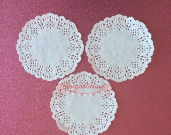 White Lace Paper Doilies - 9cm - Pack of 50 Doily