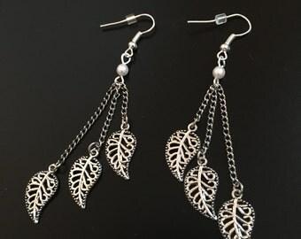 3 Leaf Drop Earrings