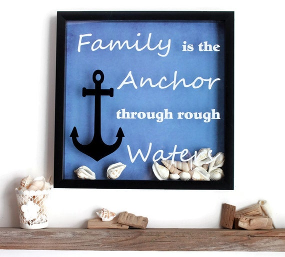 Beach Theme Home Decor Shadow Box Beach Gift: Shadow Box Wall Decor Vinyl Wall Decor Quote Framed