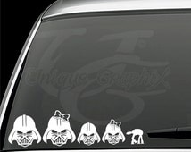 Darth Vader family vinyl decals window stickers