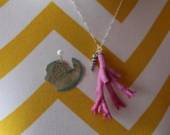 Beach Inspired Jewelry - Pink Coral Necklace - Wedding - Beach Jewlery -  Gift
