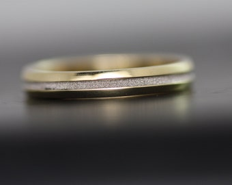 Wedding band/Wedding gold ring/Two tone ring/Mens wedding band/Promise ring/Engraved gold ring/Woman's ring/Engagement ring/Wedding rings