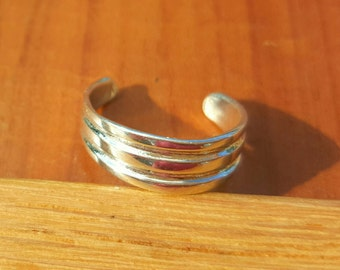 Double Groove Sterling Silver Toe Ring