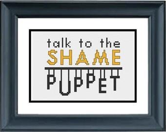 Talk to the Shame Puppet - Unbreakable Kimmy Schmidt - PDF Cross-Stitch Pattern - Netflix