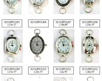Watch Face Silver Oval Loop Geneva and Narmi Watch Faces Beading Watch Face Silver Oval Watch Face - 1 Piece