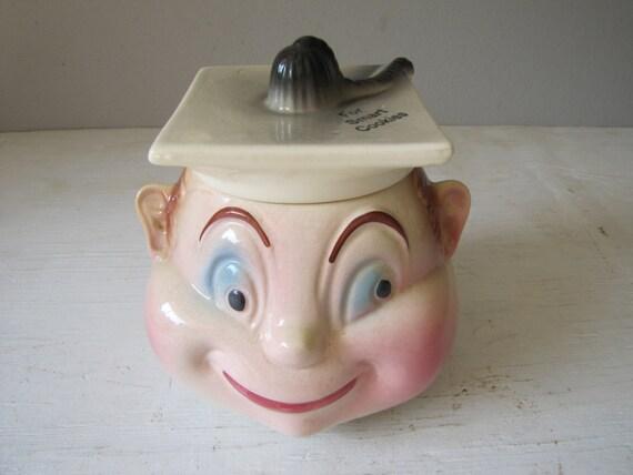 Vintage Cookie Jar Rare Cardinal Usa Boy Head Cookie Jar