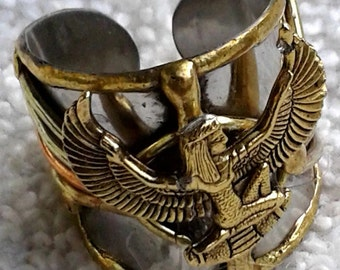 Egyptian Jewelry, Afrocentric, Kemetic, Nubian, Maat, Ma'at, Symbolic Ancient Egyptian Designed Charm Ring - Maat - Goddess of truth/justice