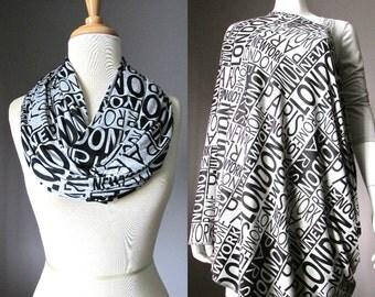 Nursing Scarf , Nursing Cover Scarf , Nursing Infinity Scarf, Nursing Cover ,  Infinity Scarf, Grey Scarf, traveler scarf