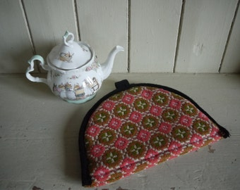 Vintage Welsh Blanket Tapestry Tea Cosy