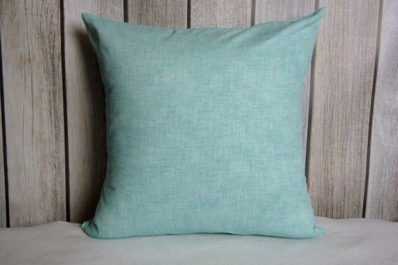 Pillow Cover. Pillow. Throw Pillow. Cushion. Decorative Pillow.  aqua blue contemporary modern home decor