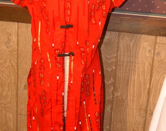 Vintage Watumull's and Leilani Red Dress