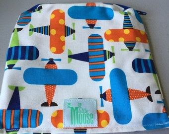 """20% OFF SALE Reusable Sandwich/Snack Bags organic cotton lined with PUL - 6.5""""x6.5"""""""