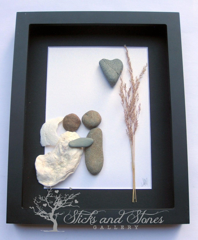 Unique Wedding Gift Pebble Art Wedding Gift Bridal Shower