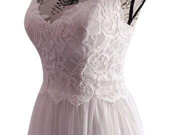 Beach Wedding | Boho Dress | Chiffon lace bridal | Made With Love