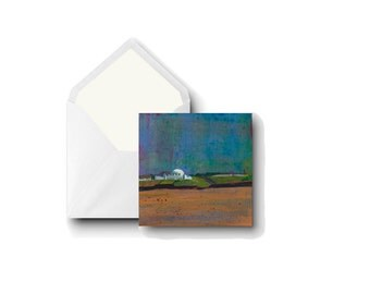 """Greetings Card Square: Spanish City, Whitley Bay Tynemouth near Newcastle 5x5"""" 13x13 cm from Original Art by Eleanore Ditchburn UK Artist"""