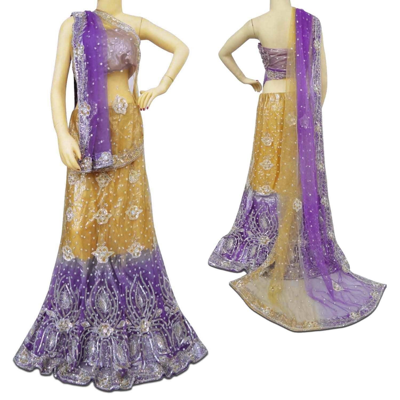 Vintage Style New Lehenga Indian Purple Lehenga Beaded