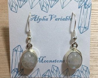 Sterling Silver Moonstone Earrings - June Birthstone