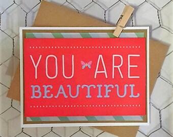 You are Beautiful blank card
