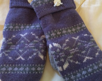B3   Felted wool mittens  size medium