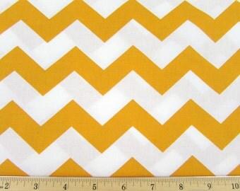 "1"" Chevron Gold/Deep Yellow Fabric"