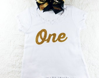 Baby Girl Clothes First Birthday Shirt Birthday Shirt Birthday Baby Girl Shirt Baby Girl 1st Birthday 1st Birthday Shirt Gold Glitter #16