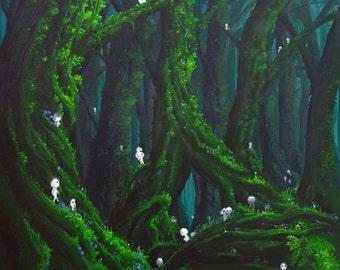 Mononoke - print on paper 300g - 40x60cm