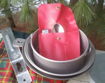 1950s Girl Scout Mess Kit with Original Plaid Cover