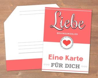 Valentine's Day Card Liebe