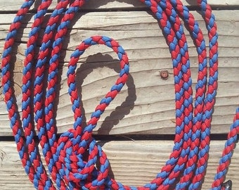 Red and Royal Blue War Bridle