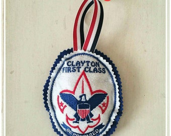 Eagle scout ornament etsy for Cub scout ornament craft