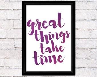 Purple Digital Printable Home Decor - Wall Art