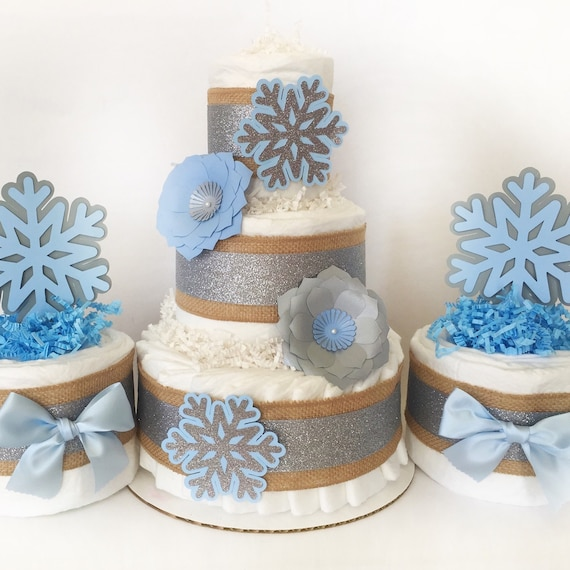 Winter wonderland baby shower centerpiece set by