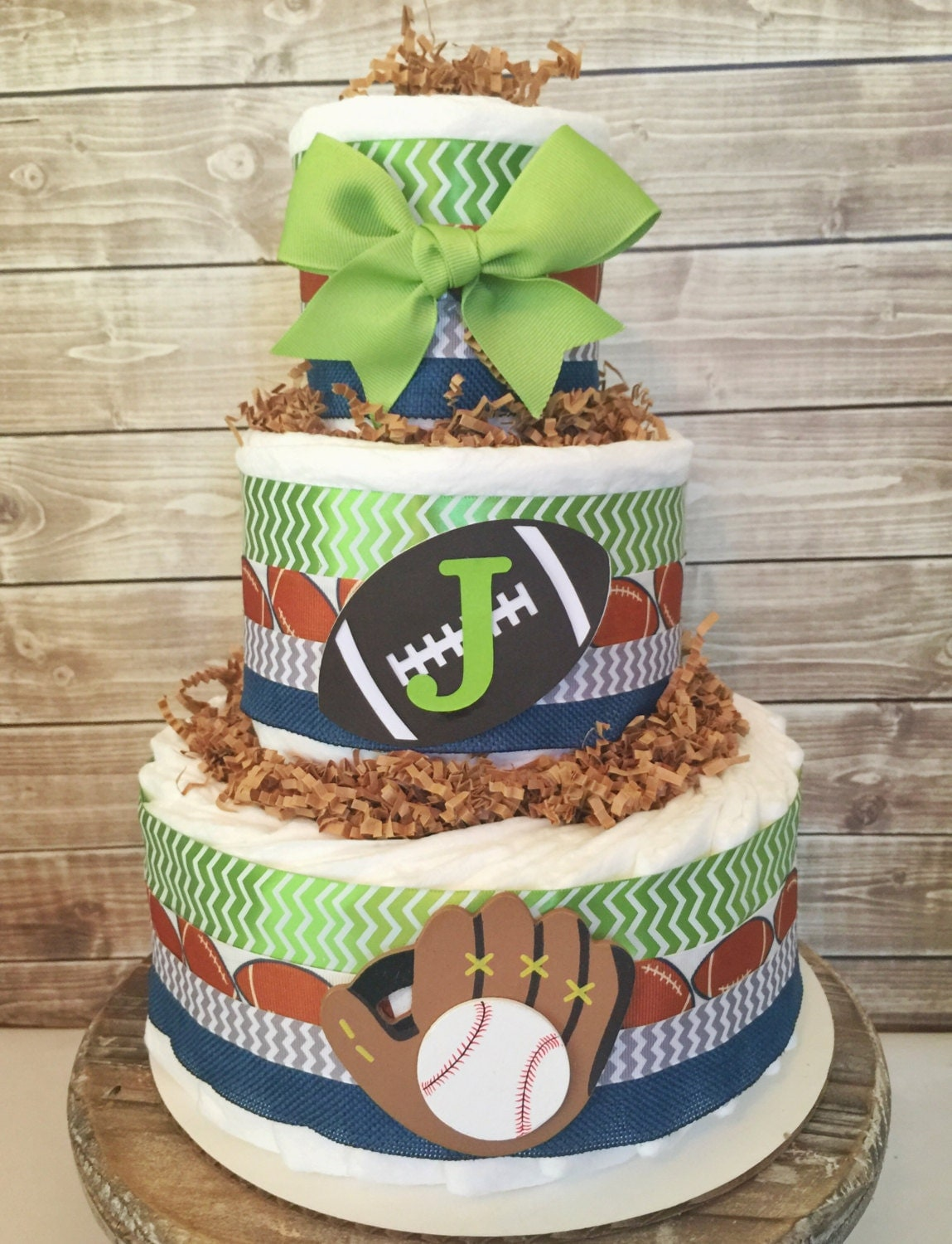 Sports Theme Diaper Cake Sports Baby Shower Centerpiece