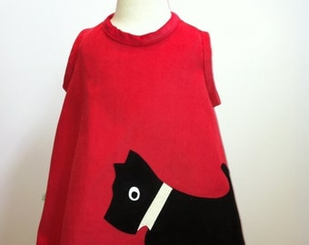 Scottie Dog Pinafore Dress